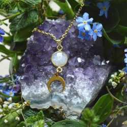 Naszyjnik Luna z kamieniem...
